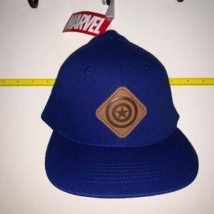 NWT Captain America Leather Emblem Baseball Cap
